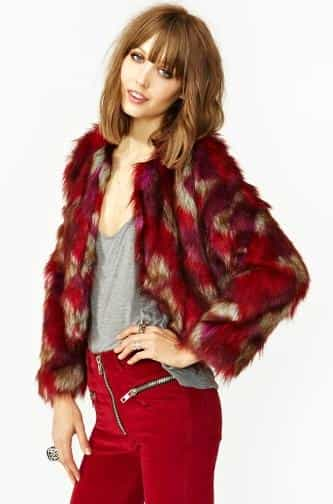 Patched Faux Fur Coat £122.36