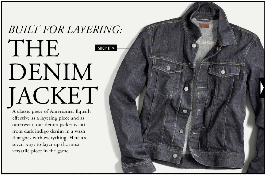 SHOP THE DENIM JACKET AT J.CREW