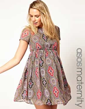 ASOS Maternity Skater Dress In Paisley Print £45.00