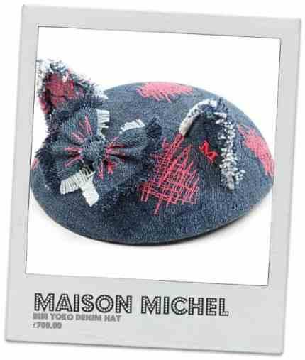 MAISON MICHEL Bibi Yoko denim hat      £700.00