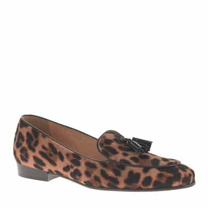 Collection Biella calf hair tassel loafers