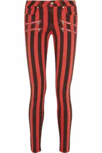 Paige Edgemont striped low-rise skinny jeans £260