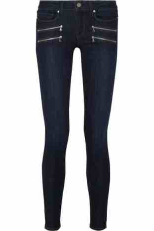 Skinny jeans with zips, Paige zip jeans, winter look denim