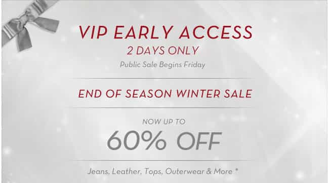 j brand jeans sale, VIP early access