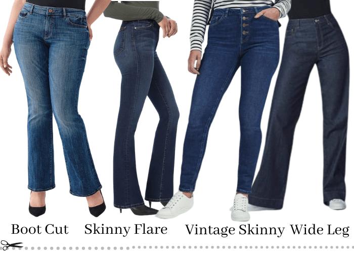 tall curvy jeans styles