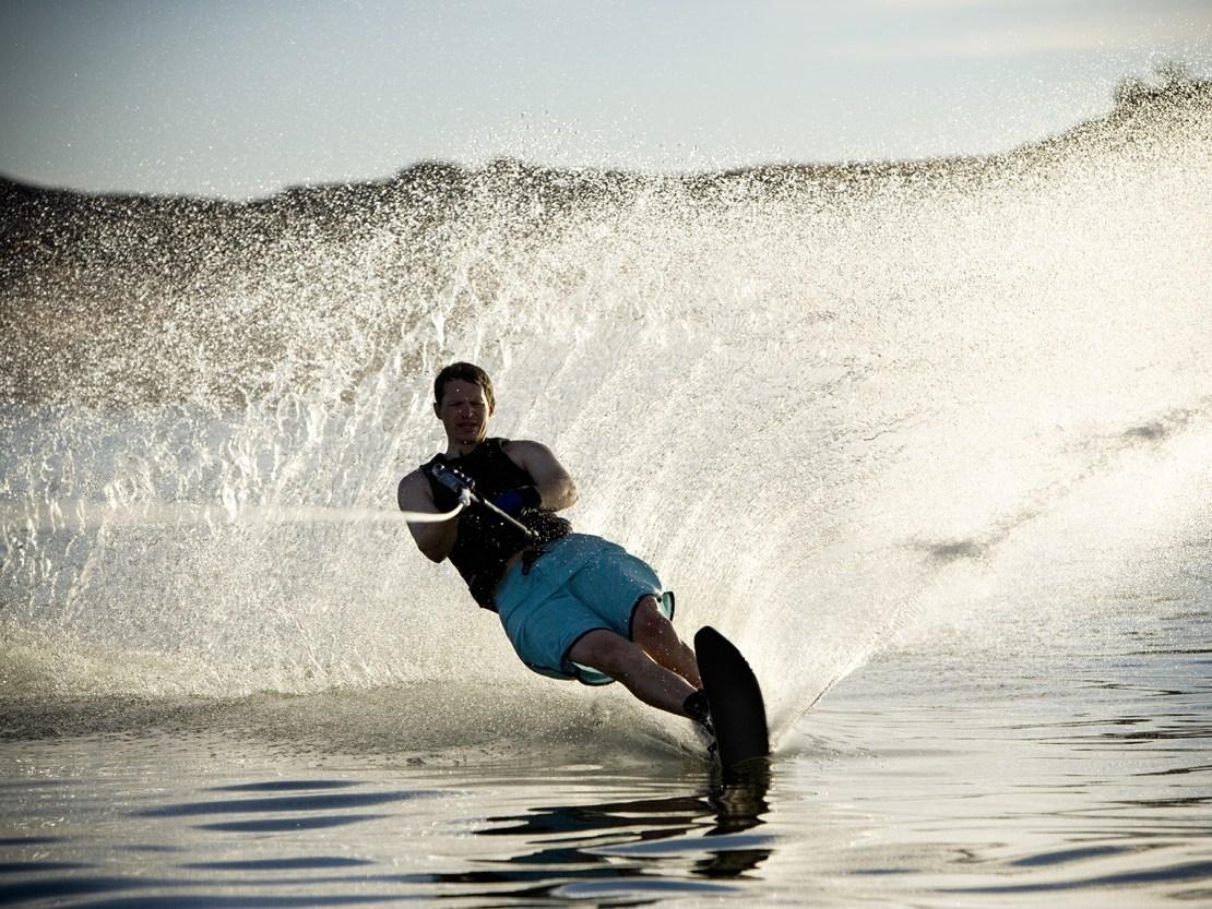 Water skiing in Lake Arrowhead