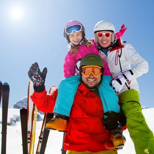 Family Winter Vacation Ski Trip