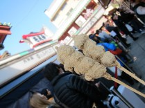 Love the street leading up to the temple. Tried many of the street food - this is the yummiest mochi I have ever tasted! Soft, sweet, chewy type.