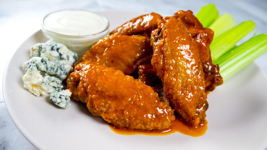 Classic Buffalo wings with bleu cheese