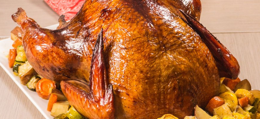 smoked turkey close up
