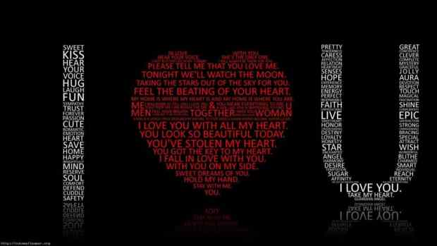 I love you wallpaper with Quotes
