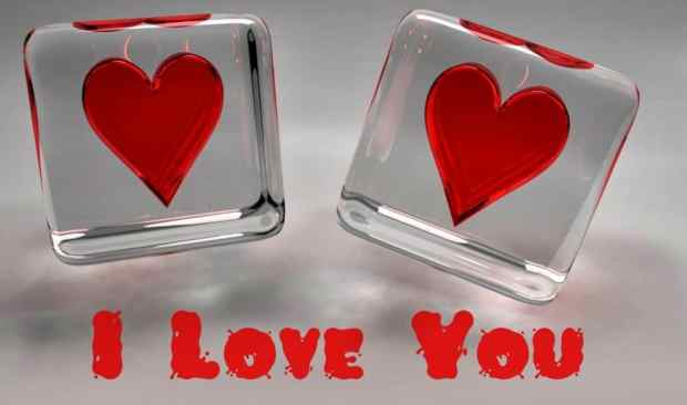 I love you Ice Hearts Pictures