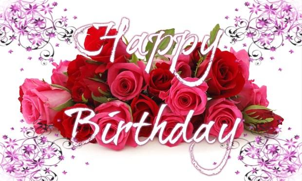 romantic happy birthday roses pictures