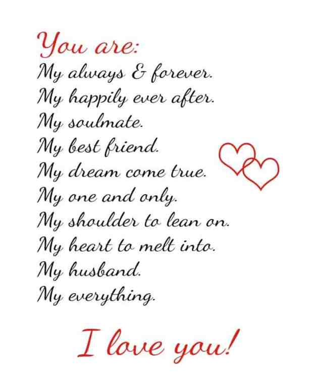 Love quotes with images for husband