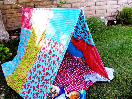 outdoor fort for kids