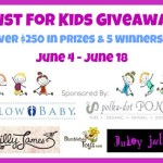 Just for kids Giveaway!, Ends June 18