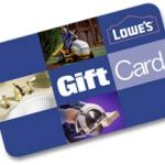 $100 Lowe's Gift card giveaway, Ends July 15