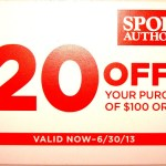 $20 off Sports Authority Coupon