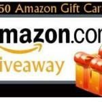 $50 Amazon Gift card Flash giveaway, Ends 12/28