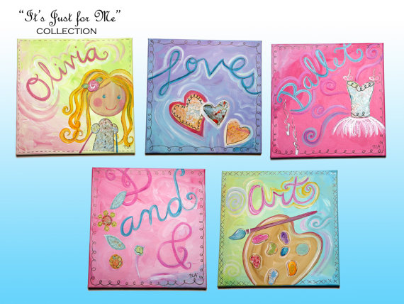 Personalized wall decor Painting Collection Canvas Loves Ballet