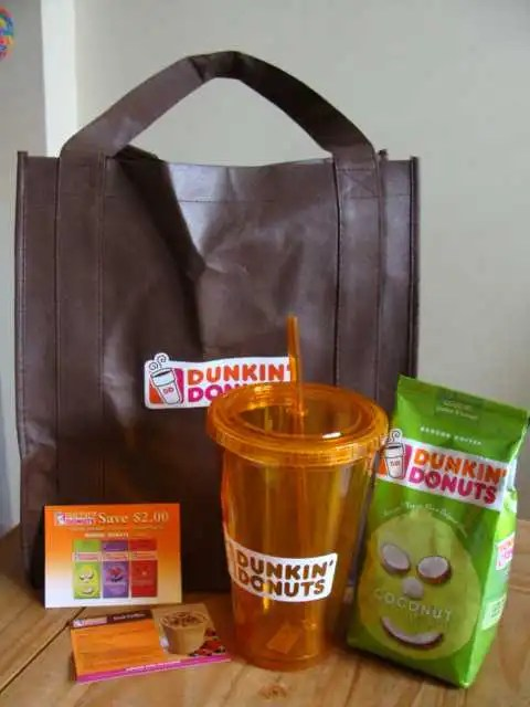 dunkin donuts party prize pack
