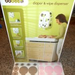 Way to organize diapers and wipes in your Baby's nursery with Boobee Diaper Stacker