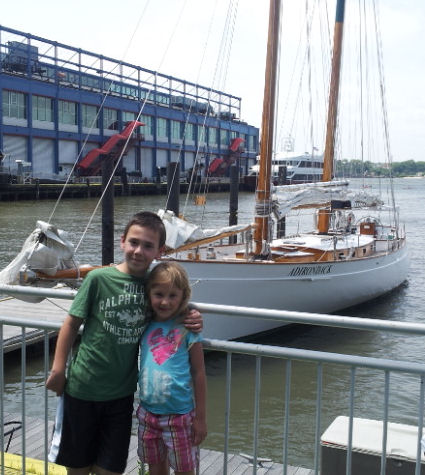 Adirondack boat at chelsea piers