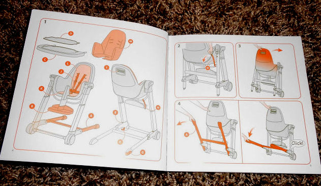 Inglesina high chair instructions