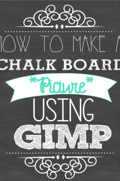 How to make your own super cute chalk board picture printable