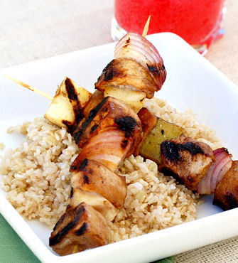 Balsamic Pork and Apple Skewers