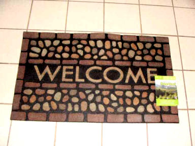 welcome sign doormat