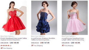 DressFirst short dresses