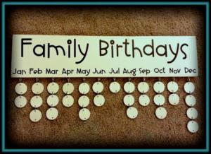 Family Birthday Board giveaway