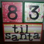 Fun Way to Countdown to Santa~Count Down Blocks Giveaway