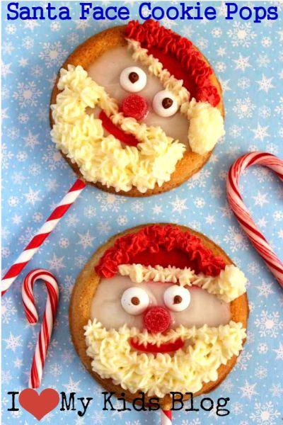 Christmas Santa Face Cookie Pops