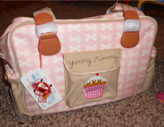 Pink Lining Diaper Bag