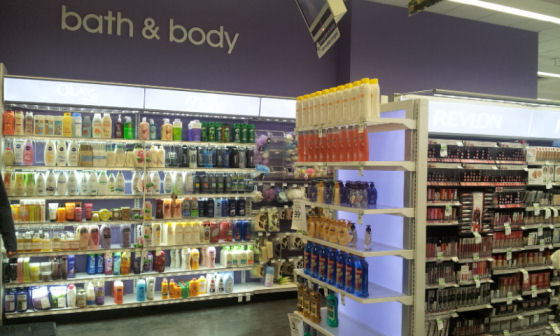 bath and body shop at Duane reade