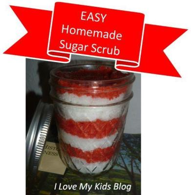 sugar scrub button