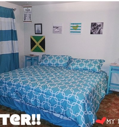 Steps to make your bedroom go from Drab to Fab on a budget!! Before and after pictures.