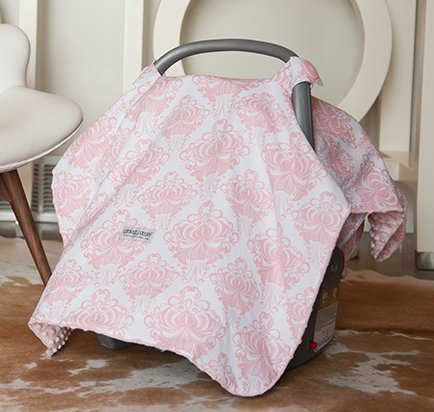 Car seat canopy pink