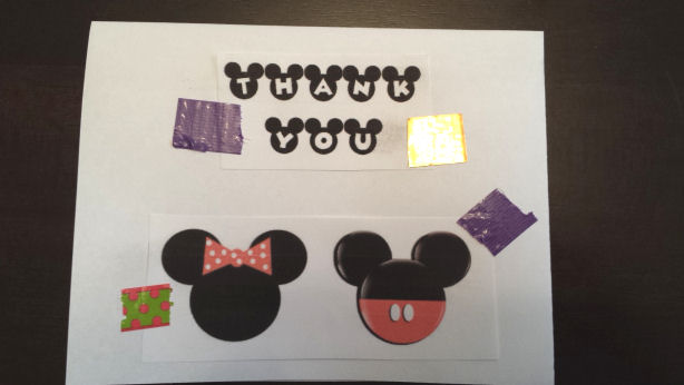 mickey thank you card