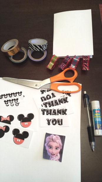 diy thank you cards supplies