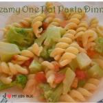 Creamy One Pot Pasta Dinner Idea- Easy and Inexpensive!