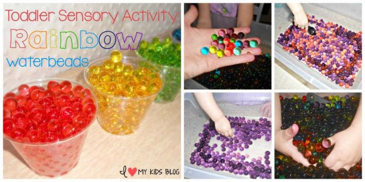 rainbow water beads