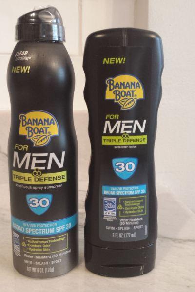 New Banana Boat Triple Defense Sunscreen for Men