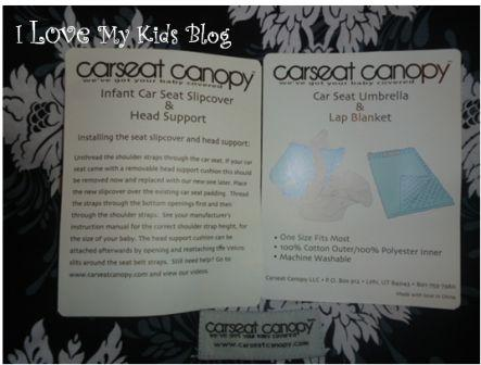Car seat canopy whole caboodleinstructions