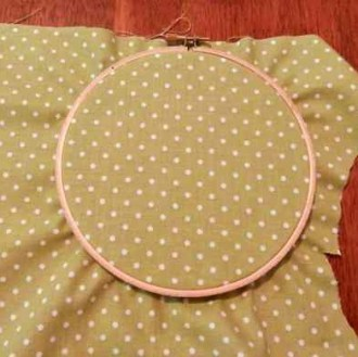 Fabric in hoops