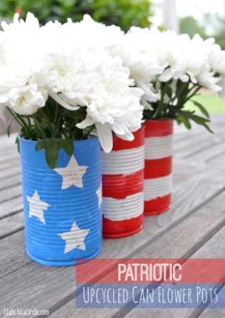 Patriotic-Upcycled-Can-Flower-Pots3