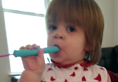 Savannah playing slide flute