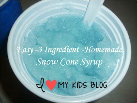 how to make homemade snow cone syrup 7